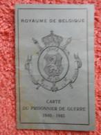 Carte De Prisonnier Guerre 40-45 Délivré à Titre Posthume Belgique - Documents