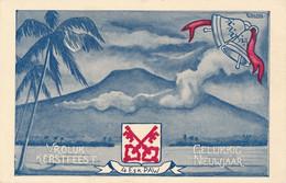 Nederlands Indië - 1948 - Veldpost Ned. Gezag NM3 - LB 18  Op Portvrije Kerstkaart 4 Esk PAW Naar Rotterdam - Indes Néerlandaises