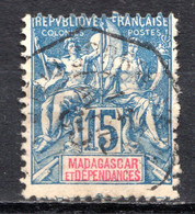 Colonies Françaises - MADAGASCAR (Colonie Française) - 1896-99 - N° 33 - 15 C. Bleu - Used Stamps
