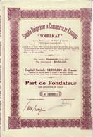 Titre Ancien - Société Belge Pour Le Commerce Au Katanga - Société Congolaise à Responsabilité Limitée - Titre De 1928 - - Africa