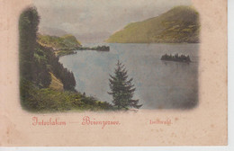 CPA Précurseur Interlaken - Brienzersee - Iseltwald - Au Verso, Ringenberg Am Brienzersee - BE Berne