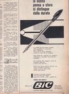 (pagine-pages)PUBBLICITA' BIC   Epoca1960/496. - Other