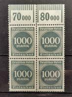 Deutsche Reich Mi-Nr. 273  W OR 1'11'1 **MNH Postfrisch - Ungebraucht