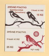 Republique Tcheque - Carnets - C-48 49 - Oiseaux - Cote 6€ - Ungebraucht