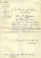 """1871 GUERRE  DE 1870-1871 Sign. Pothuau Ministre  MARINE & COLONIES PROMOTION  """"GAZAGNES ETIENNE""""   PHARMACIEN 2° CLASSE - Autógrafos"""