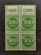 Deutsche Reich Mi-Nr. 270  W OR 1'11'1 Und 2'9'2 **MNH Postfrisch - Ungebraucht
