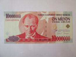 Turkey 10000000(10 Million) Lirasi 1999 Banknote AUNC - Turquie