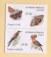 Republique Tcheque - Carnets - C-202 204 - Papillons Oiseaux - Cote 6€ - Ungebraucht