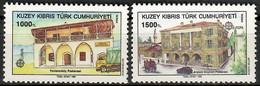 Türkisch-Zypern 1990  Mi.Nr. 273 / 274 , EUROPA CEPT - Postalische Einrichtungen - Postfrisch / MNH / (**) - Europa-CEPT