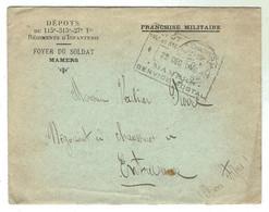 MAMERS (Sarthe) Foyer Du Soldat -1912  -lettre + Enveloppe à En-tête - Documents