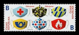 Czech Republic 2020 Mih. 1079/80 Fight Against COVID-19 Coronavirus MNH ** - Czech Republic