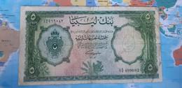 LIBYA 5 POUNDS 1953 P26 VG - Libya