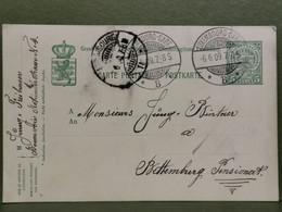 Entier Postaux, Oblitéré Luxemburg 1909 Envoyé Au Pensionnat Bettembourg - Interi Postali