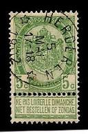 N° 56, Relais/sterstempel HERDEREN 05/05/1902 - 1893-1907 Wappen
