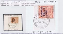 Ireland Dublin County 1924single-ring LEOPARDSTOWNN BLACKROCK JA 30 24 Cds On Thom Saorstat 2d On Piece. Office Shut - Ohne Zuordnung
