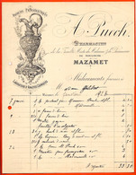 Facture Illustrée 1923 Pour Médicaments  A. PUECH Pharmacien 81 MAZAMET Tarn - 1900 – 1949