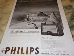 ANCIENNE PUBLICITE RADIO-PHONO  PHILIPS DE MEME 1937 - Altri