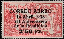 1938. * Edifil: 756. VII ANIVERSARIO DE LA REPUBLICA AEREO. Marquilla - 1931-50 Unused Stamps