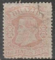 BRAZIL - 1882 200r Dom Pedro. Damaged Top Right Corner. Scott 85. Mint - Neufs