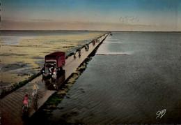 PASSAGE DU GOIS AVEC CAMION,CYCLISTES.......CPSM GRAND FORMAT ANOMEE - Vrachtwagens En LGV