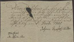 1801 Botenlohn-Quittung - Unclassified