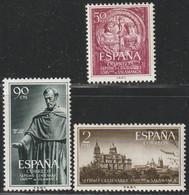 1953. * Edifil: 1126/28. VII CENTENARIO UNIVERSIDAD DE SALAMANCA - 1951-60 Ungebraucht