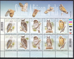 South Africa, Fauna, Birds, Owls MNH / 2007 - Eulenvögel