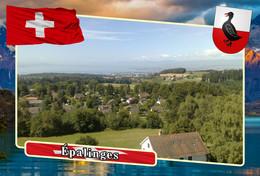 Postcard, REPRODUCTION, Municipalities Of Switzerland, Épalinges 3 - Landkaarten
