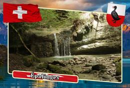 Postcard, REPRODUCTION, Municipalities Of Switzerland, Épalinges 9 - Landkaarten