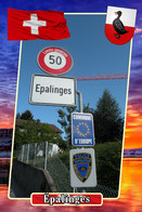 Postcard, REPRODUCTION, Municipalities Of Switzerland, Épalinges 10 - Landkaarten