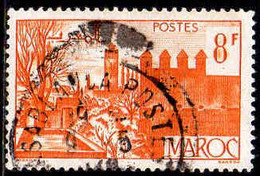 Maroc (Prot.Fr) Poste Obl Yv:258A Mi:257 Fèz Jardins & Remparts (Beau Cachet Rond) - Gebraucht