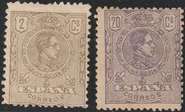 1920. * Edifil: 289/90. ALFONSO XII-MEDALLON TIPOGRAFIA - Ongebruikt
