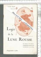 XC / Vintage //  PROGRAMME Théâtre  LOGIZ De La Lune ROUSSE @@ LUNE ... APRES L'AUTRE @@ PEZET CAREL - Programas