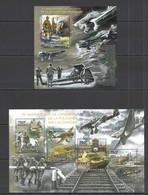 CA529 2014 CENTRAL AFRICA CENTRAFRICAINE WORLD WAR II ANNIVERSARY INVASION TO POLAND KB+BL MNH - WW2