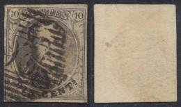 "Médaillon - N°6 Margé Obl P93 ""Pepinster"" / COBA : 10 - 1851-1857 Medaillons (6/8)"