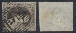 """Médaillon - N°6 Margé Obl P121 """"Tubize"""" / COBA : 10 - 1851-1857 Medaillons (6/8)"""
