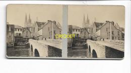Photo Stéréoscopique Sur Carton, N ° 1, Chartres, 1917 - Stereoscopic