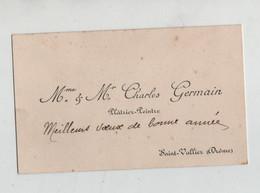 Charles Germain Plâtrier Peintre Saint Vallier - Cartes De Visite