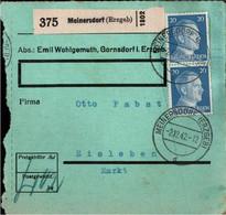 ! 1942 Meinersdorf Im Erzgebirge Nach Eisleben, Paketkarte, Deutsches Reich, 3. Reich - Covers & Documents