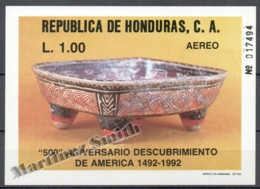 Honduras 1988 Yvert BF 39, 500th Ann. Discovery Of America, Christopher Columbus - MNH - Honduras