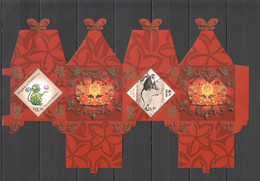 WW735 2016 TONGA ASTROLOGY YEAR OF THE MONKEY !!! MICHEL 36 EURO !!! DIY 3D SEDAN CHAIR STAMP SHEET MNH - Chinese New Year
