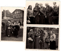 3 Photos Originales - Schulausflug Helgoland 1933 - Voyage Scolaire Helgoland 1933 - Adolescentes Délurées - Pin-up