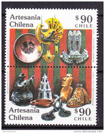 Chile - Chili 1991 Yvert 1032- 33, Chilean Crafts - MNH - Chile