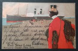 PAQUEBOT - RED STAR LINE - CARTE ILLUSTREE - Paquebote