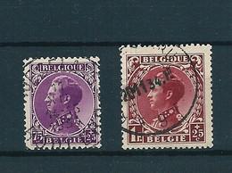 [2068] Zegels 391 + 393 Gestempeld - 1934-1935 Leopold III