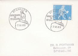 Sirène / Seenixe / Mermaid. Cancellation DÄNEMARK IN ST. GALLEN 1963 - Autres