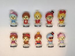 Serie Complete De 10 Feves Kiki  Monchhichi Candy Pop - Altri
