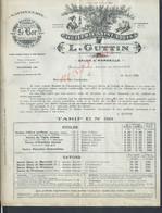 LETTRE COMMERCIALE ILLUSTRÉE DE 1925 L GUTTIN SUJET TARIFS À SALON DE PROVENCE & MARSEILLE SAVONNERIE BEURRE DE COCO : - 1900 – 1949