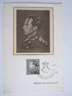 België Belgium 1983 Maximum Rouwzegel Décès Roi Koning Leopold III Cob 2111 - 1981-1990
