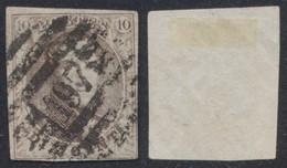 """Médaillon - N°10A Margé Obl P197 """"Gosselies-Courcelles"""". Belle Frappe ! - 1858-1862 Medallions (9/12)"""